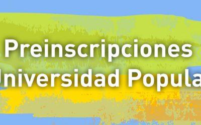 Preinscripción a Universidad Popular niñas/niños nacidos entre 2004 y 2011