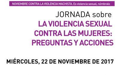 Inscripción a jornada –La violencia sexual contra las mujeres–