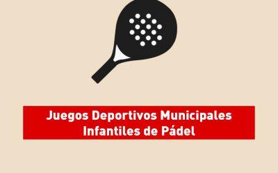 Clausura Juegos Deportivos Municipales Infantiles de Pádel